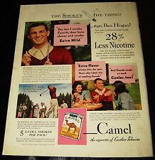 1941 BEN HOGAN GOLF CAMEL CIGARETTES MAGAZINE AD