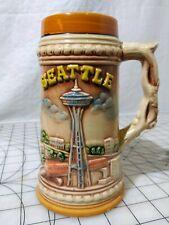 7 inch Ceramic Beer Stein SEATTLE LANDMARKS