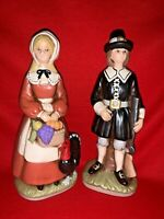 Vintage RETIRED No Longer Made PILGRIM Couple Turkey Musket Figurine ❤️sj11h1s
