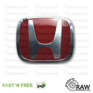 RED Honda Civic Type R EP3 2001-2003 Prefacelift OEM Front Grill Badge