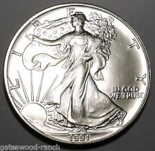 1991 American Silver Eagle - Brilliant and beautiful  uncirculated  coin