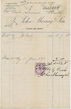 2409 GLASGOW, 12, 14 & 16 College Street, John Murray & Son – 1898, attractive