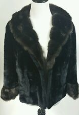 VTG Faux Fur Caplet REGINA GLENARA BY GLENOIT Shawl Shrug Stole Jacket Made USA