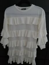 Ladies Boohoo Frilled Knitted Dress. Size 8. (Worn Once).