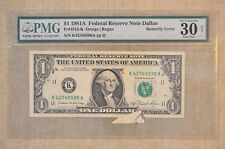1981 A - Dollar - Butterfly Error - Pmg Graded Vf-30 -Federal Reserve Note $1