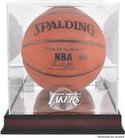 Los Angeles Lakers Mahogany Team Logo Basketball Display Case - Fanatics