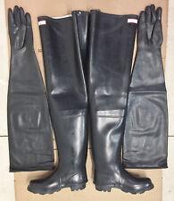 """""""31 in Ultra Long Shoulder Length Black Latex Rubber Safety Gloves Gummihandsch"""""""