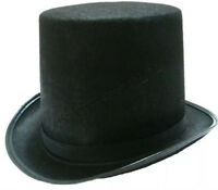 Black Top Hat Mat Hatter Party Costume Magician Wedding Fedora Christmas Formal