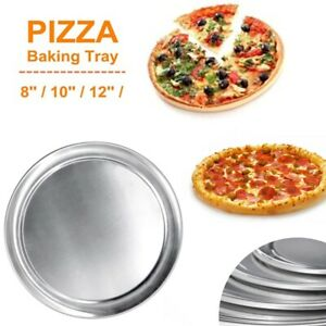 Non-Stick Pizza Baking Tray Pie Cakes Pastry Baking Mould Pan 8/10/12 Inch