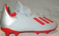 BOY'S ADIDAS X 19.3 FIRM F35365 GROUND GREY/RED   SOCCER CLEATS SIZE 2