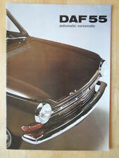 DAF 55 Saloon Automatic / Variomatic 1971 original UK Mkt Sales Brochure