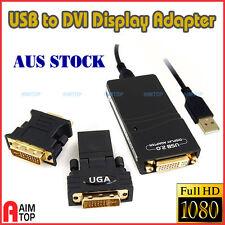 USB To VGA/DVI/HDMI Multi-Display Converter Adapter Win 7 Vista MAC OSX Linux