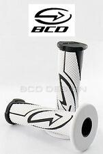 Poignées BCD Blanc Noir guidon Scooter Scoot Moto NEUF Polar Grips black white
