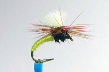 10 x Mouche Sèche KLINKHAMER JAUNE  H12/14/16 dry fly truite trout mosca
