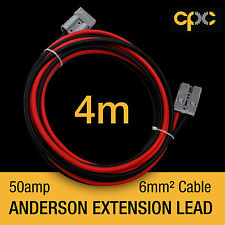 4m 50A AMP ANDERSON PLUG style Extension cable Battery 4x4 4WD CARAVAN SOLAR 12V