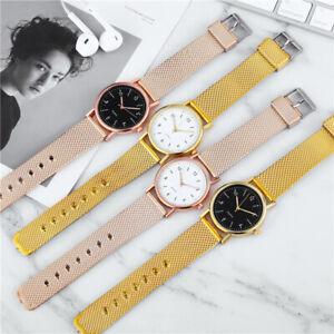 Women Steel Belt Gypsophila Watch Simple Vintage Small Dial Quartz Wristwatches