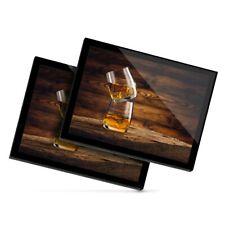 2 X Manteles Individuales De Cristal 20x25 Cm-vasos de beber whisky Whisky Alcohol #16204