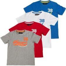 Camisetas de niño de 2 a 16 años manga corta color principal rojo