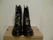 Women's dr martens leather boots biking aimilie Dark brown size 7 us new