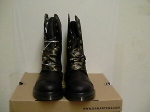 Women's dr martens leather boots biking aimilie Dark brown size 6 us new