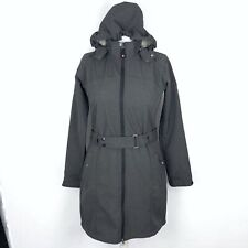 KILLTEC Technical Outdoor Grey Belted Hooded Jacket Size UK 12 (40) Waterproof