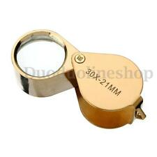 30 x 21mm Jewelers Magnifier Magnifying Glass Eye Loupe for Gold Silver Jewlery