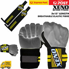 Xeno Weight Lifting Gym Muscle Training Wrist Support Straps Wraps Bodybuilding