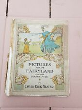 Pictures from Fairyland Antique Vintage Sheet Music David Dick Slter 1917