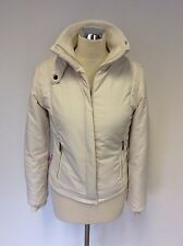 JOULES NATURAL(IVORY) LIGHTLY PADDED ZIP UP RACEY JACKET SIZE 10