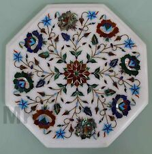 Marble Inlay Side End Table Pietradura Coffee Table Marquetry Home Decorative