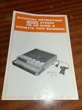 Original 1971 Buccaneer RTR500 Operating Instructions