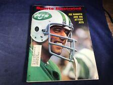 O3-28 SPORTS ILLUSTRATED MAGAZINE - OCTOBER 9, 1972 - JOE NAMATH NEW YORK JETS