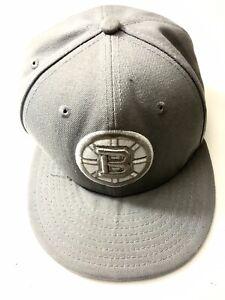 Boston Bruins New Era 59/50 NHL Hat Cap Size 7 1/8 Ex Shape