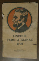 Antique Vintage 1909 Abraham Lincoln Farm Almanac Book (Ranch Home Republican)