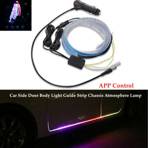 DC12V Car RGB LED Car Door Light Guide Strip Chassis Atmosphere Lamp APP Control
