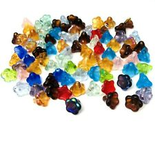 85 Czech Glass Flower Beads 11x13mm Mixed Colour