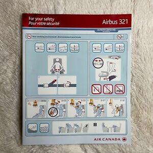 Air Canada Airbus A321 Safety Card