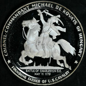 1979 Michael De Kovats Battle of Charleston Bicentennial 2 oz Silver Medal