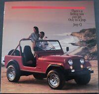 1986 Jeep CJ Renegade Laredo Original Dealer Sales Brochure