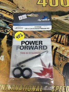Dynamite DYNP5098: 1/8 Inline Exhaust Rebuild Kit .21/.28 NewInPack USA Shipped