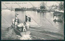 Livorno Città Militari Marina Militare cartolina QQ3670