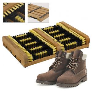 Wellington Door Mat Cleaner Heavy Duty Double Shoe Boot Scraper Brush Outdoor