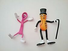 LOT 2 = Baskin Robbins 31 Flavors 1991 PINKY THE SPOON + Planters= Bendy Toys
