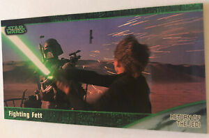 Return Of The Jedi Widevision Trading Card 1997 #55 Fighting Fett Skywalker