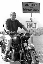 Steve McQueen The Great Escape 30x20 Inch Canvas Framed Art Deco Wall Covering
