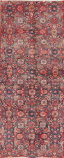 Vintage All-Over Floral Mahal Runner Rug Hand-Knotted Hall-Way Narrow Runner 2x6