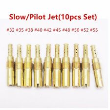 (10pcs Set) Slow/Pilot Jet for PWK Keihin OKO CVK 32,35,38,40,42,45,48,50,52,55