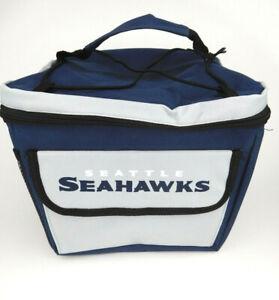 Seattle Seahawks NFL Football Zip Up Lunch Box Cooler Blue Gray Team Fan Gift