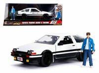 Toyota Trueno AE86 Initial D W/ Takumi Figure Hollywood Rides 1/24 By Jada 99733
