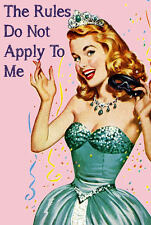 """The Rules Do Not Apply To Me 2"""" x 3"""" Fridge Magnet Funny Humor Princess"""